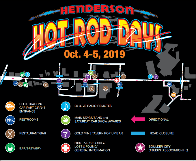 Hot Rod Days Map