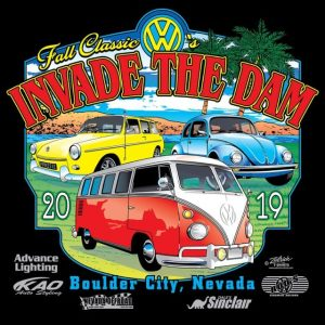 2019 Fall Classic VW's Invade the Dam T-shirt