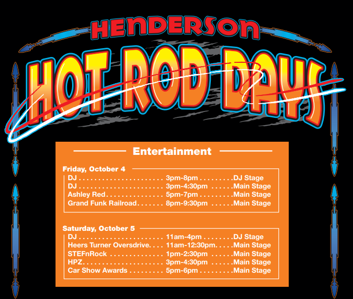 Hot Rod Days Calendar